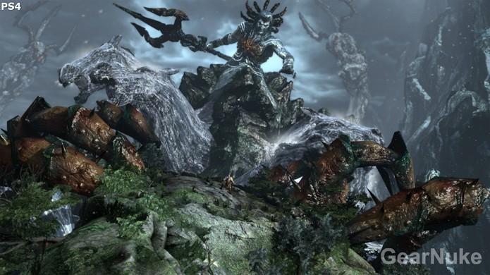 No PlayStation 4 há poucas melhorias,como melhores efeitos de água e reflexos (Foto:Reprodução/GearNuke)