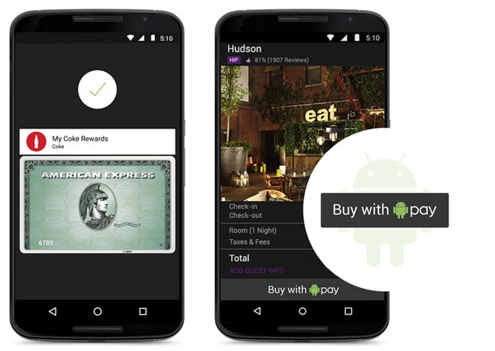 Android Pay, sistema de pagamento criado pelo Google para celulares (Foto: Divulgação/Google)