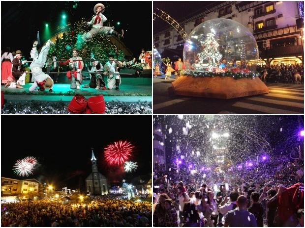 Natal Luz de Gramado recebe diferentes atrações nesta edição (Foto: Montagem sobre fotos)