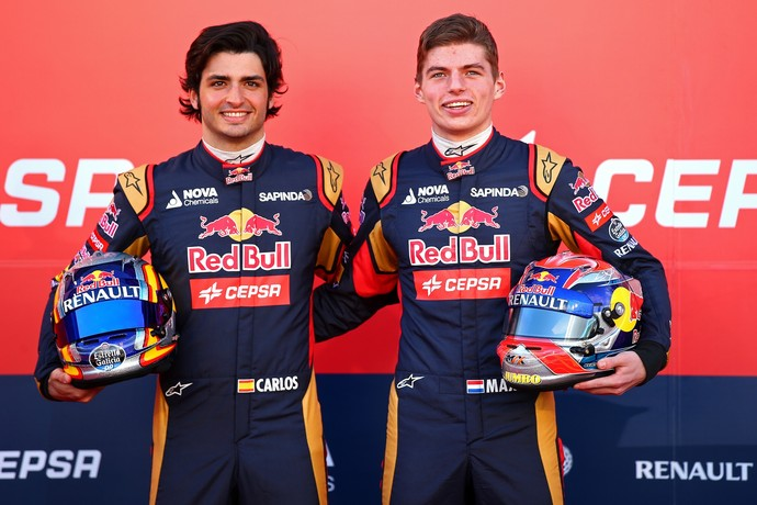 Carlos Sainz Jr. e Max Verstappen - 31/1/2015 (Foto: Getty Images)