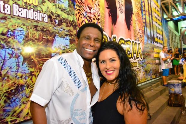 Neguinho da Beija-Flor e Elaine  (Foto: Rodrigo Mesquita  / Divulgação. )