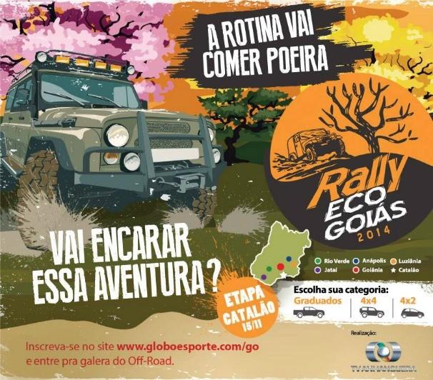 TV Anhanguera realiza quarta etapa do Rally Eco Goiás em Catalão (Foto: TV Anhanguera)