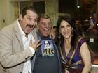 Marcelo Serrado e mais famosos vão a inauguração de teatro no Rio