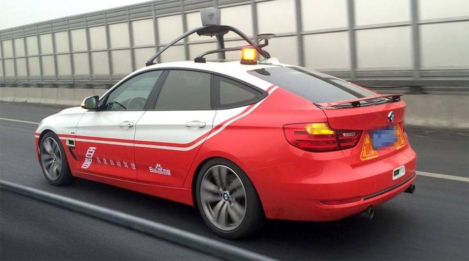 Carro-robô do Baidu (Foto: Reprodução)