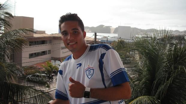 Diego Oderno, goleiro do Ji-Paraná (Foto: Vinícius Vaz)
