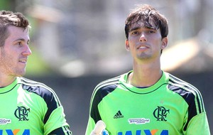 Cesar goleiro no treino do Flamengo (Foto: Leandro Martins / Futura Press / Agência Estado)