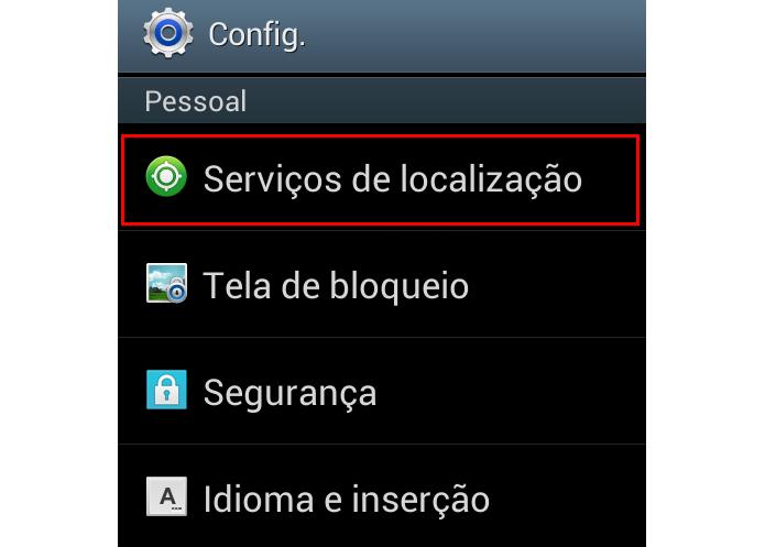 Acesse suas configurações de localização (Foto: Reprodução/Paulo Alves) (Foto: Acesse suas configurações de localização (Foto: Reprodução/Paulo Alves))