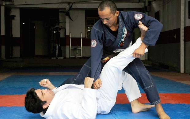 Jiu-jitsu amazonense Melquesedeque Galvão e Ronnie Melo (Foto: Antônio Lima/Semdej)