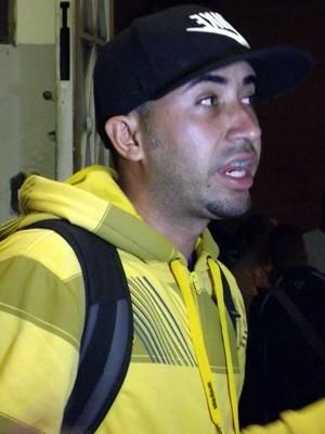 Ramon Fialho veio da Bahia e pediu dinheiro emprestado (Foto: Ivair Vieira Jr/G1)