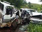 Batida frontal deixa três feridos na MGC-354 em Patos de Minas