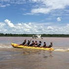 Passeio pelo Rio Araguaia é principal atração durante o dia (Vitor Santana/G1)