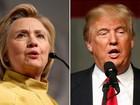 Trump tem 45%, e Hillary, 42%, aponta pesquisa sobre eleições nos EUA