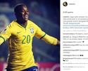 """Robinho festeja retorno à Seleção no dia do aniversário: """"Grande presente"""""""