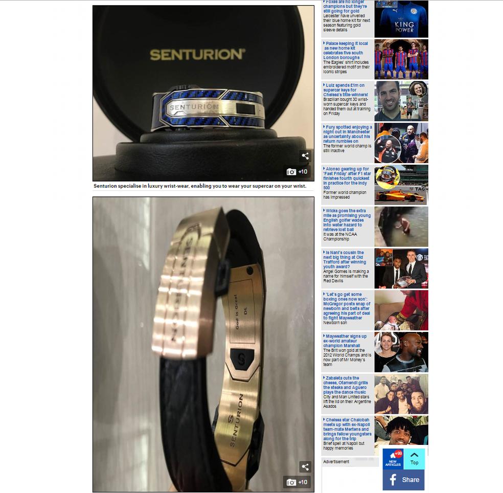 Esses são os braceletes comprados por David Luiz. O zagueiro também comprou um para ele, com as iniciais