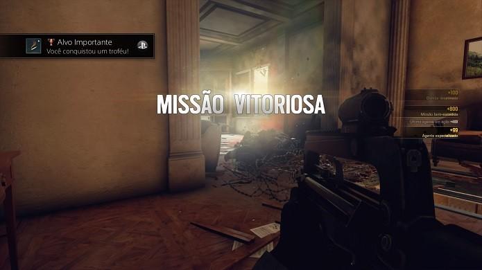 Quando completar o objetivo, esta será a tela exibida em Rainbow Six Siege (Foto: Reprodução/Thiago Barros)