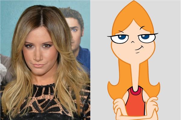 Ashley Tisdale não era nenhuma estranha para a Disney quando dublou Candace, da série 'Phineas e Ferb' (Foto: Getty Images e Divulgação)