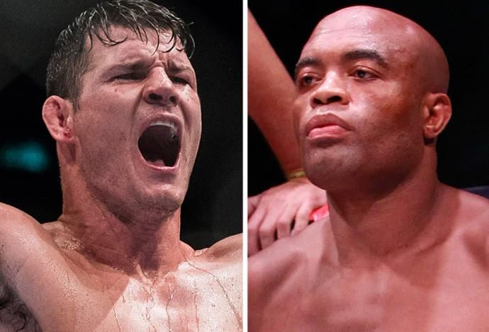 MONTAGEM - Michael Bisping e Anderson Silva UFC (Foto: Editoria de Arte)