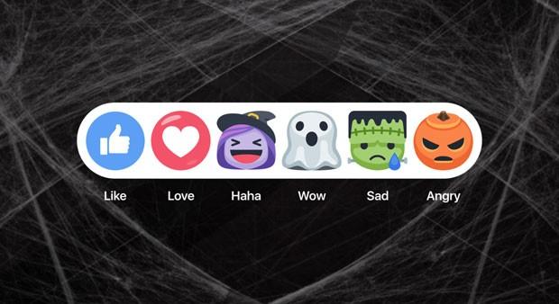 Facebook tem 'reactions' temáticos de Halloween. (Foto: Divulgação/Facebook)