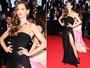 Em Cannes, Izabel Goulart usa superfenda e quase mostra demais
