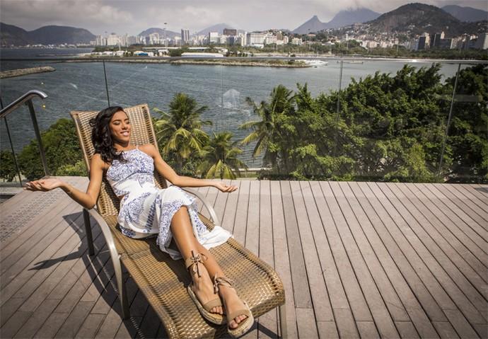 Yara Charry diz que adora o calor humano que encontra no Brasil (Foto: Inácio Moraes/ Gshow)