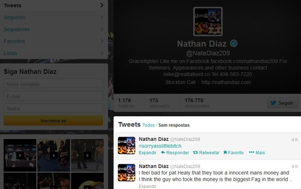 Twitter Nate Diaz (Foto: Reprodução / Twitter)