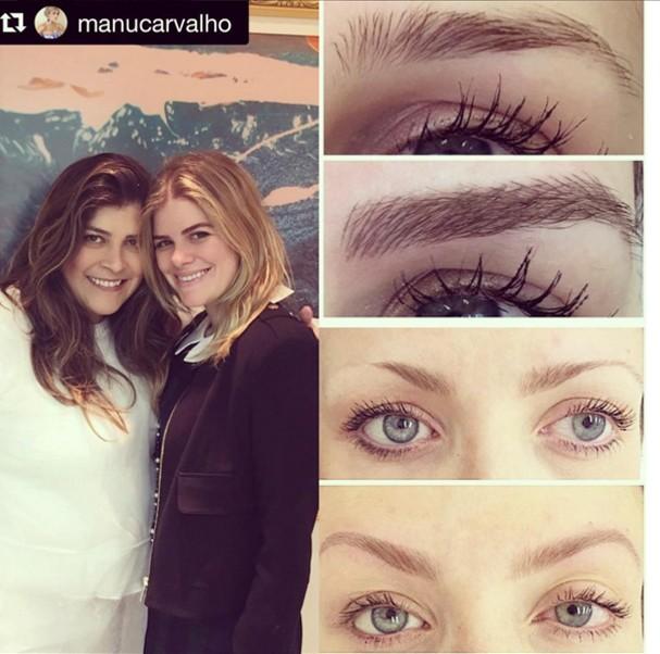 Blogueira Manu Carvalho posa com Lu Rodrigues e mostra antes e depois  (Foto: Reprodução/ Instagram)