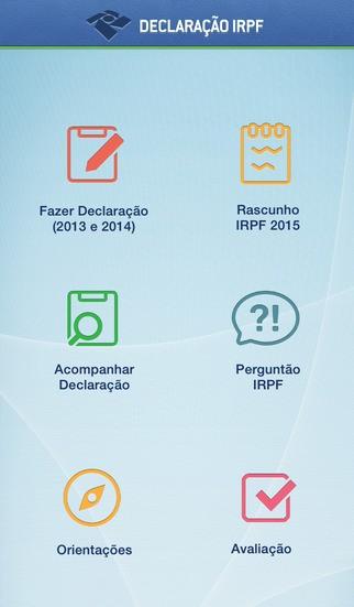 Aplicativo permite fazer rascunho da declaração de IR (Foto: Reprodução)