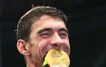 """""""Encerrei a carreira do meu jeito"""", diz Michael Phelps após levar o 23º ouro"""