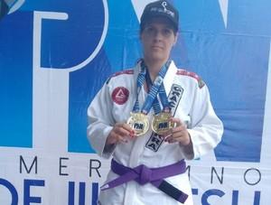 Fabiana Barrenquevitcz conquistou as medalhas em competição disputada em Fortaleza-CE (Foto: Fabiana Barrenquevitcz/Arquivo Pessoal)