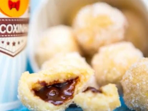 Coxinha de nutella do menu do Só Coxinha (Foto: Reprodução/Facebook Só Coxinha)
