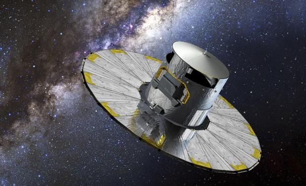 Imagem é uma impressão artística do telescópio europeu Gaia. (Foto: AFP Photo/ESA/D. Ducros)