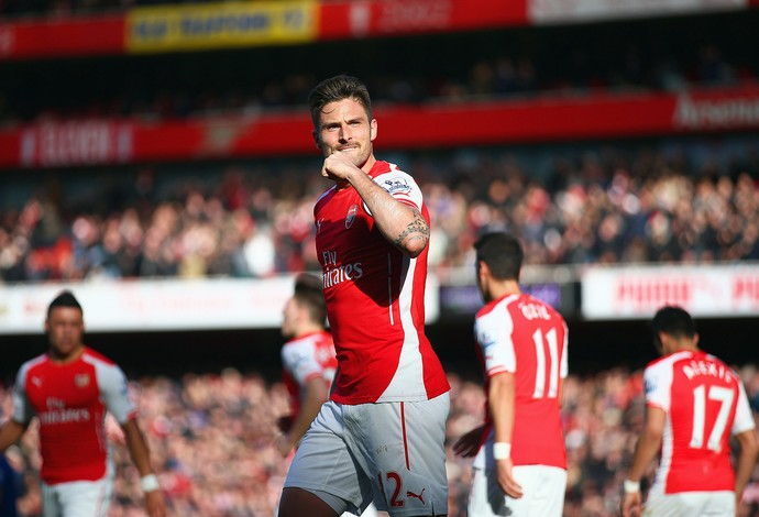 Giroud, Arsenal x Everton (Foto: Paul Gilham / Getty Images)