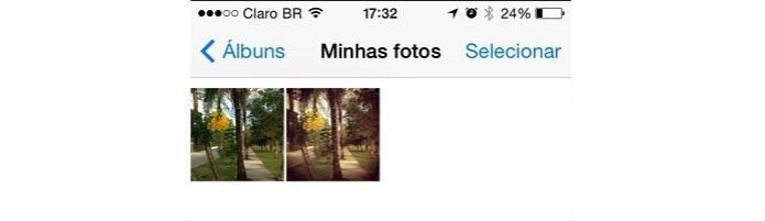 Foto editada no Instagram salva com sucesso no celular  (Foto: Reprodução/Karla Freire)