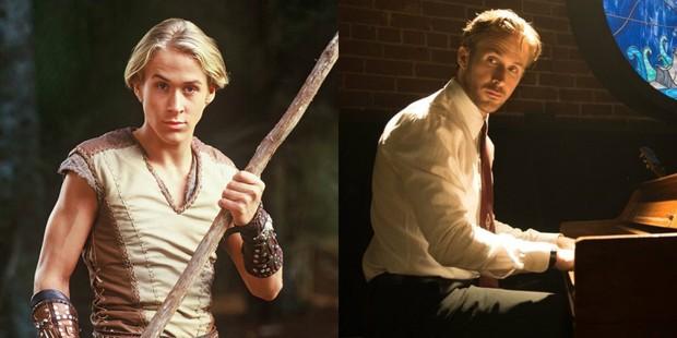 Ryan Gosling em Jovem Hercules e em La La Land (Foto: Divulgação/ IMDB)