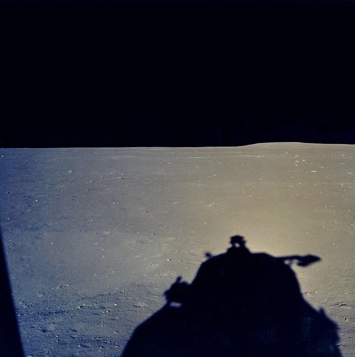 Módulo lunar, pouco após a alunagem (Foto: NASA)