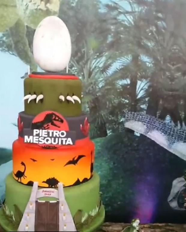 Decoração da festa de Pietro, filho de Otávio Mesquita  (Foto: Reprodução)