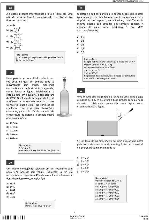 Fuvest - Caderno de Prova - 09 (Foto: Reprodução/Fuvest)