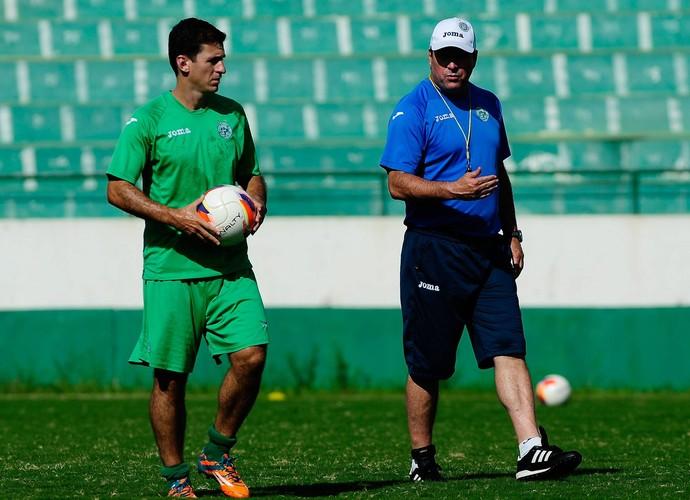 Fumagalli e Pintado treino Guarani (Foto: Rodrigo Villalba / Memory Press)