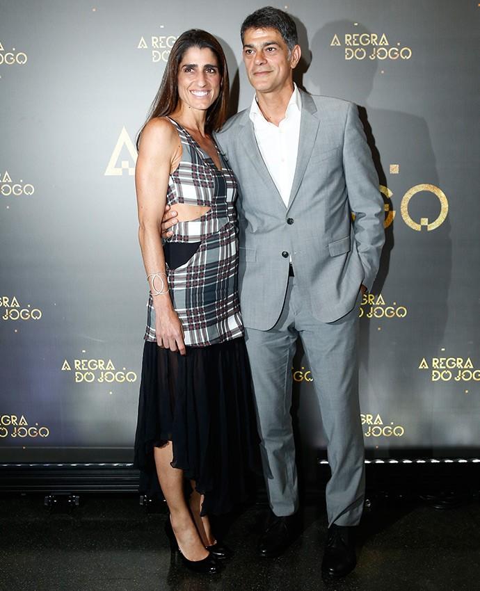 Du Moscovis ao lado da esposa, Cynthia Howlett  (Foto: Raphael Dias/Gshow)