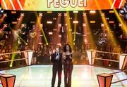 Thiago Leifert comemora 'momento peguei ' de Adna Souza (Foto: Isabella Pinheiro/Gshow)