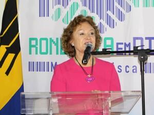 A Corregedora Nancy Andrighi compareceu a abertura do I Mutirão de Negociação Fical (Foto: Hosana Morais/G1)