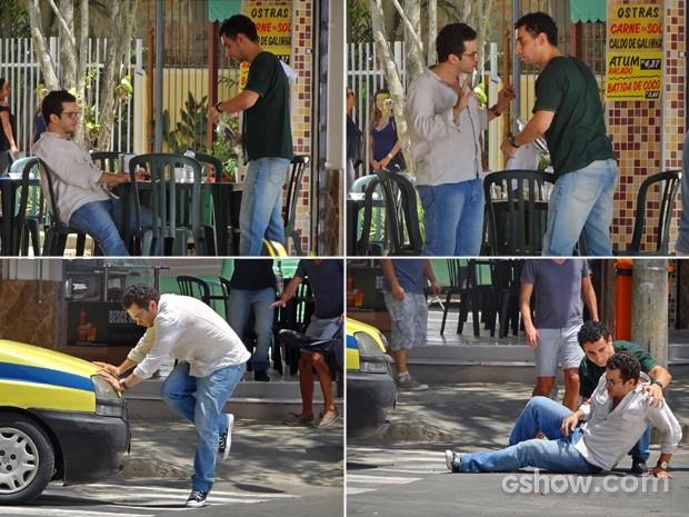 Felipe em um de seus porres (Foto: Em Família/ TV Globo)