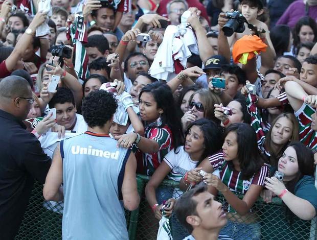 Fred com torcida no Fluminense (Foto: Rafael Cavalieri / Globoesporte.com)