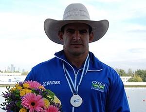 Fernando Rufino de Paulo leva prata no Mundial de paracanoagem de Moscou (Foto: Divulgação/CBCanoagem)