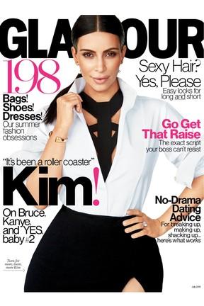 Kim Kardashian para a US Glamour (Foto: Divulgação)