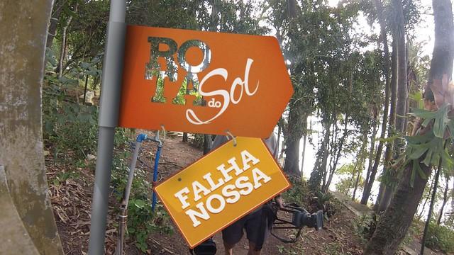 Quadro 'Falha Nossa' na Ilha dos Arvoredos (Foto: Reprodução/TV Tribuna)