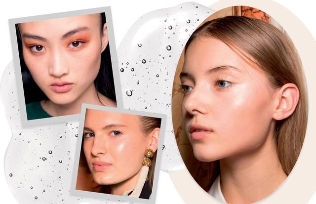 Looks de passarela com o gloss no rosto: Topshop Unique, Emanuel Ungaro e Roland Mouret (Foto: ImaxTree e Thinkstock)