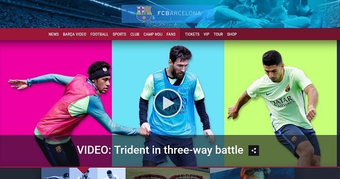 BLOG: Barça divulga vídeo no qual trio MSN duela entre si em treino  diferente