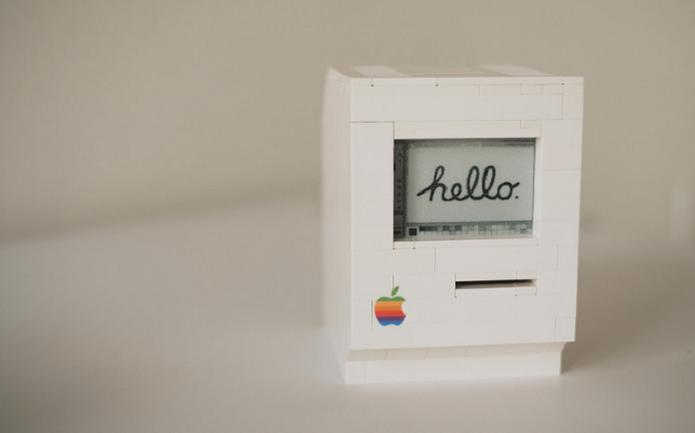 Desenvolvedor criou réplica do  Macintosh com peças de LEGO e Raspberry Pi (Foto: Divulgação/JannisHermanns)