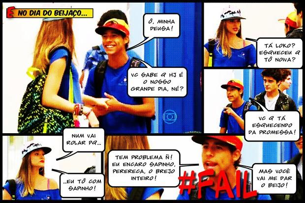 Fatinha nem vai beijar Pilha!!! (Foto: Malhação / TV Globo)